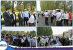 گزارش تصویری حضور مدیریت و پرسنل شرکت بتاء در مراسم تشییع پیکر مطهر دو شهید گمنام در بندر شهید رجایی